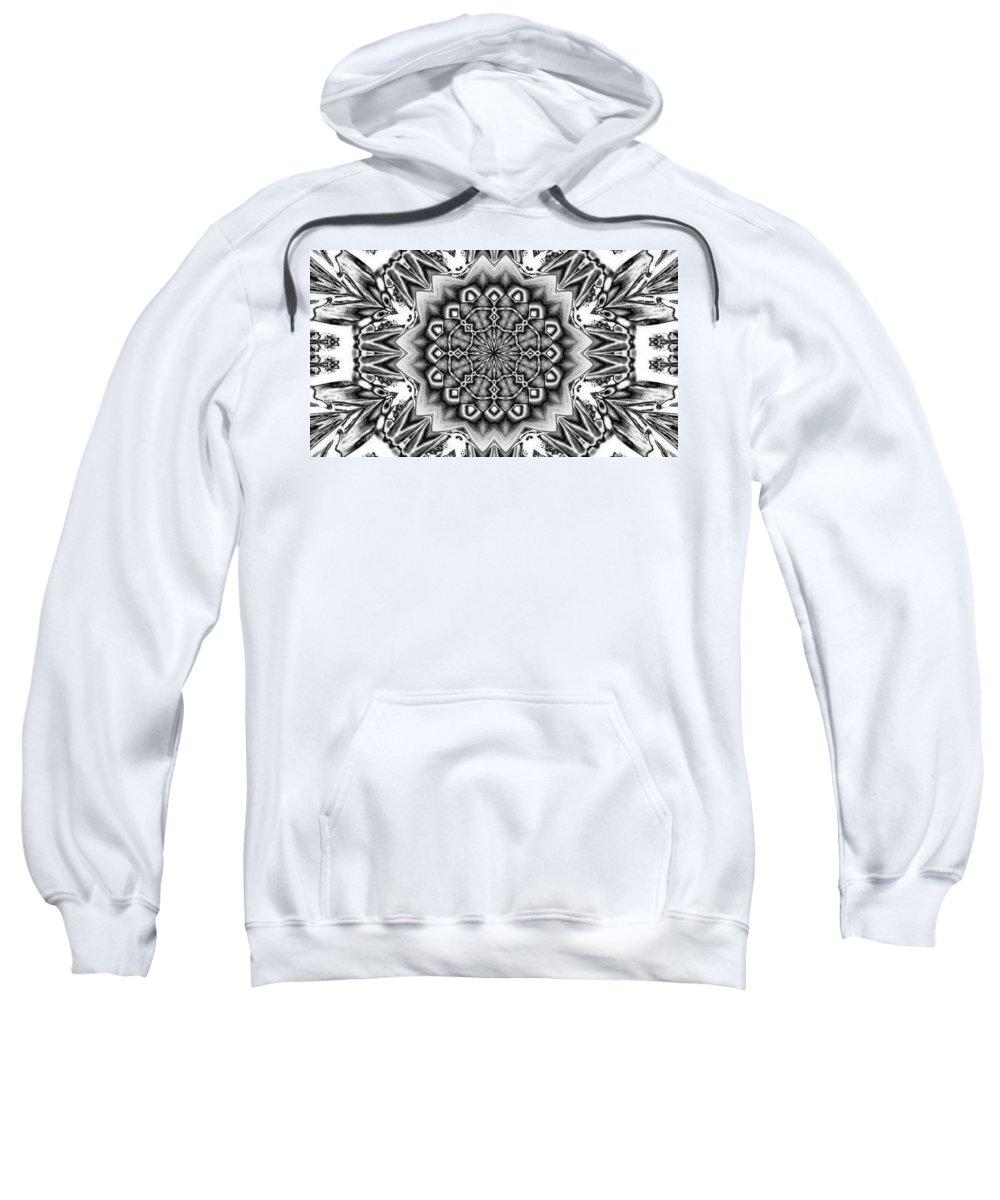 Digital Art Sweatshirt featuring the digital art Fractal 12 by Belinda Cox