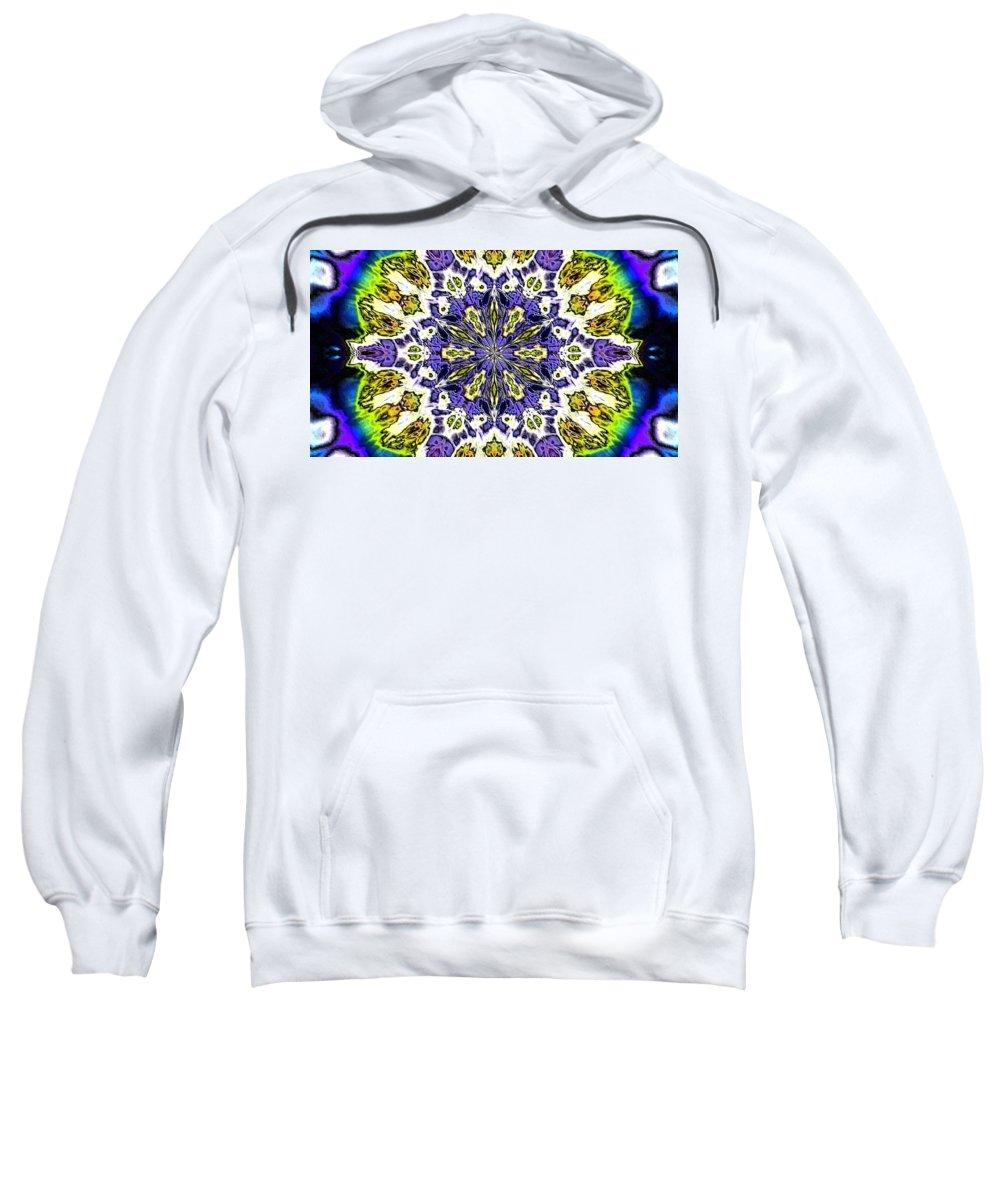 Digital Art Sweatshirt featuring the digital art Fractal 9 by Belinda Cox