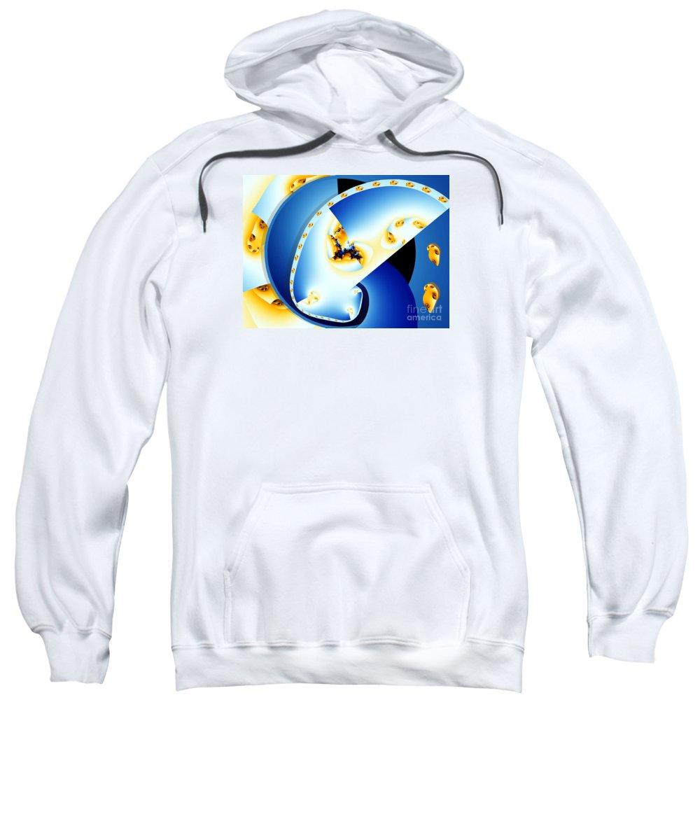 Fractal Sweatshirt featuring the digital art Fractal Construct by Ron Bissett