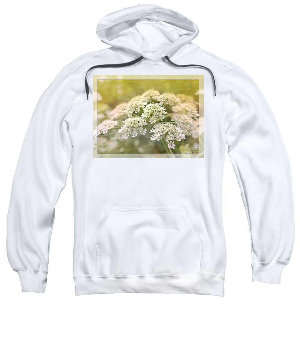 Cow Parsley Sweatshirt featuring the photograph Framed Cow Parsley by Nick Eagles