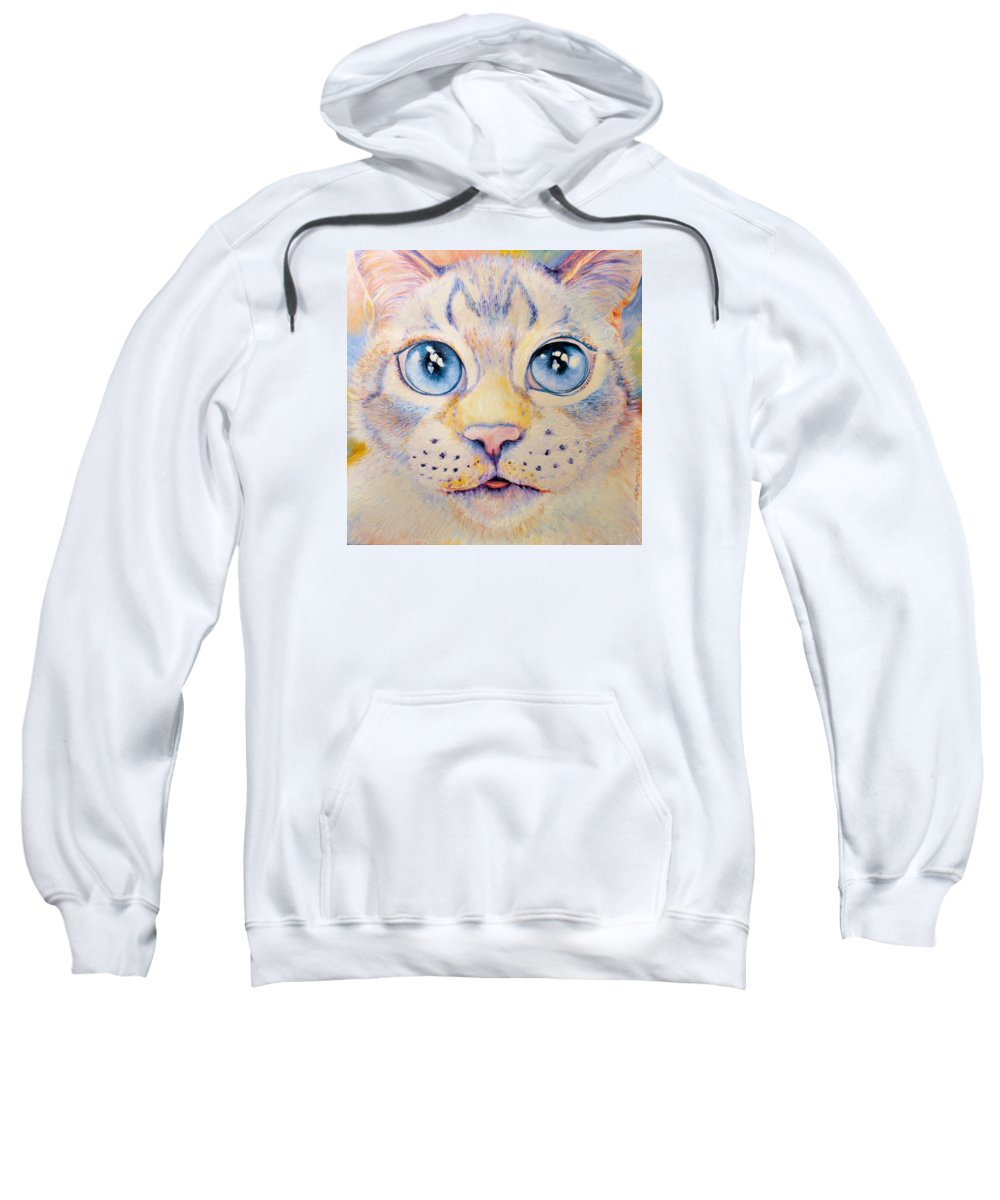 Cats Sweatshirt featuring the painting Frankie by Nelson Dynan