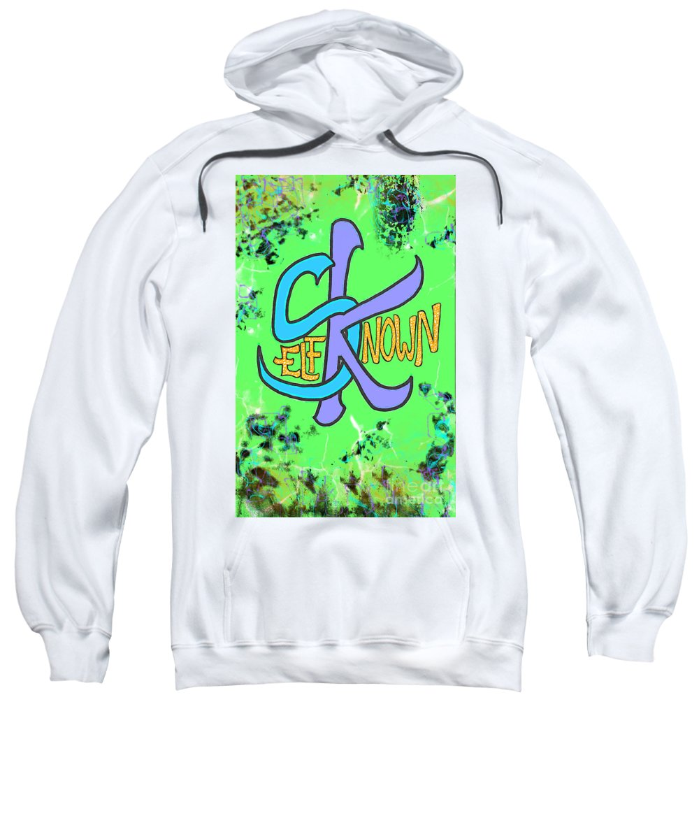 Tribal Sweatshirt featuring the drawing Free Fall by Alexander Ladd