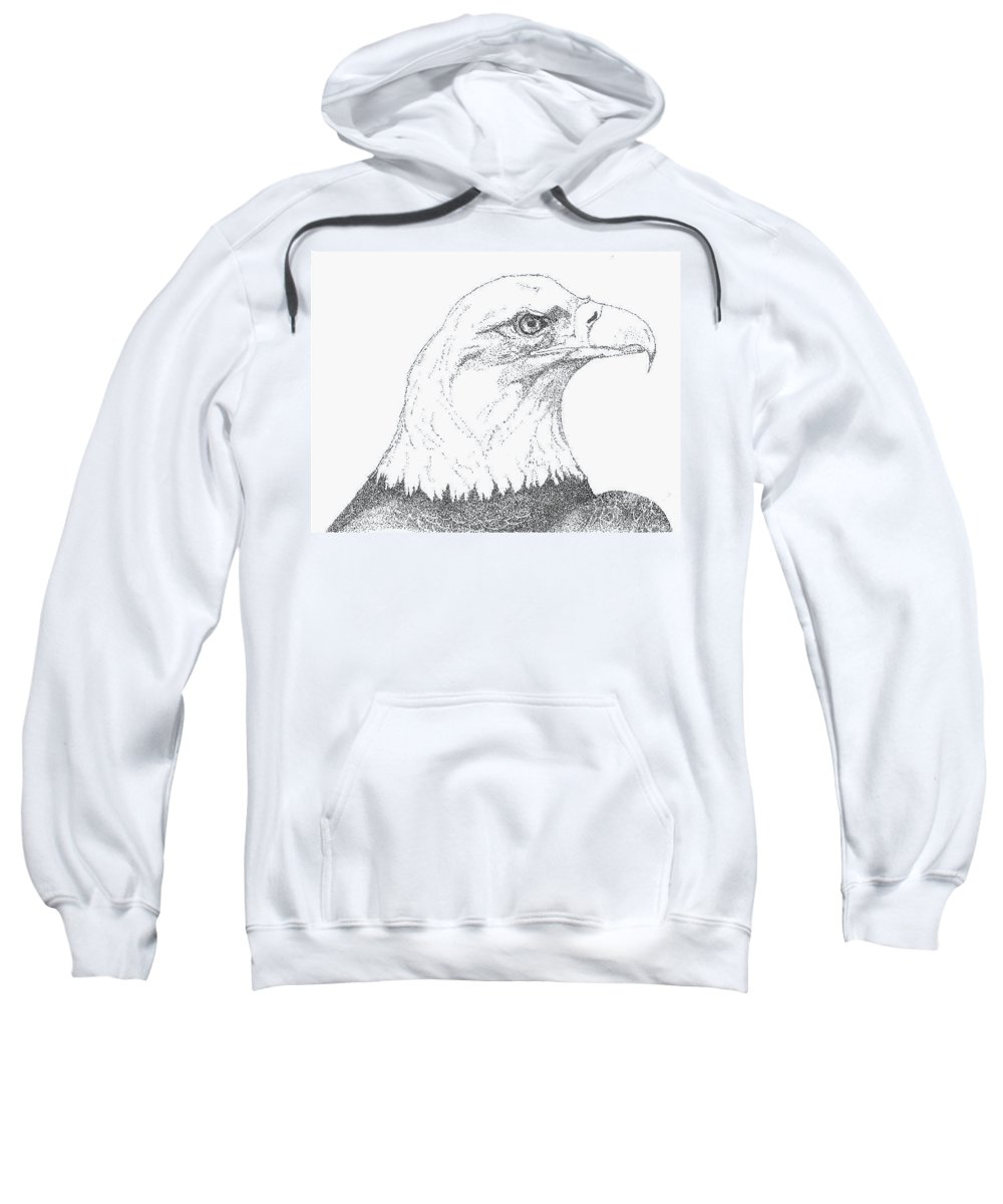 Eagle Sweatshirt featuring the drawing Freedom by Debra Sandstrom