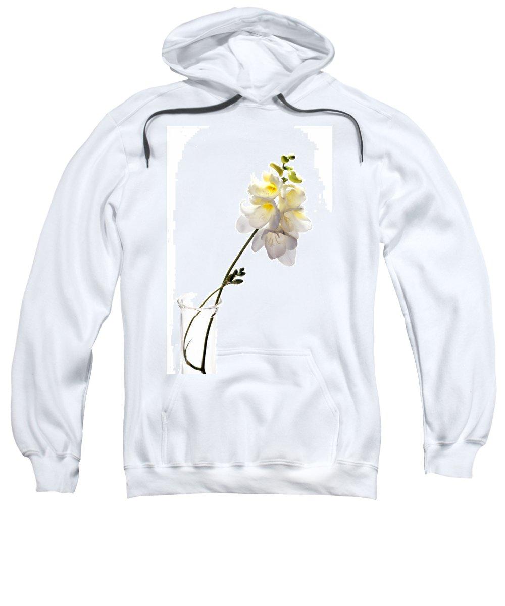 Flowers Sweatshirt featuring the photograph Freesias by Thomas Morris