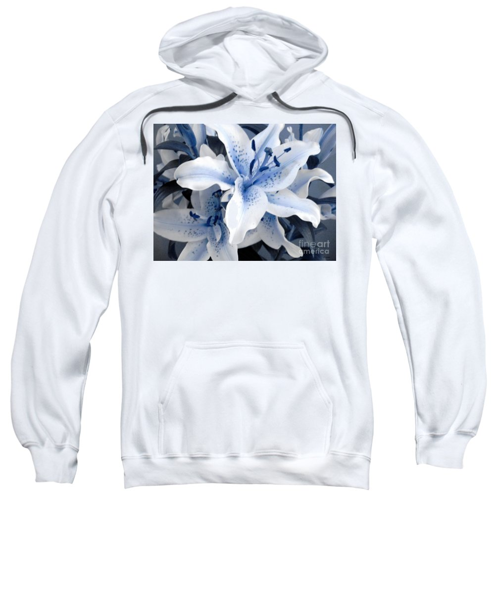 Blue Sweatshirt featuring the photograph Freeze by Shelley Jones