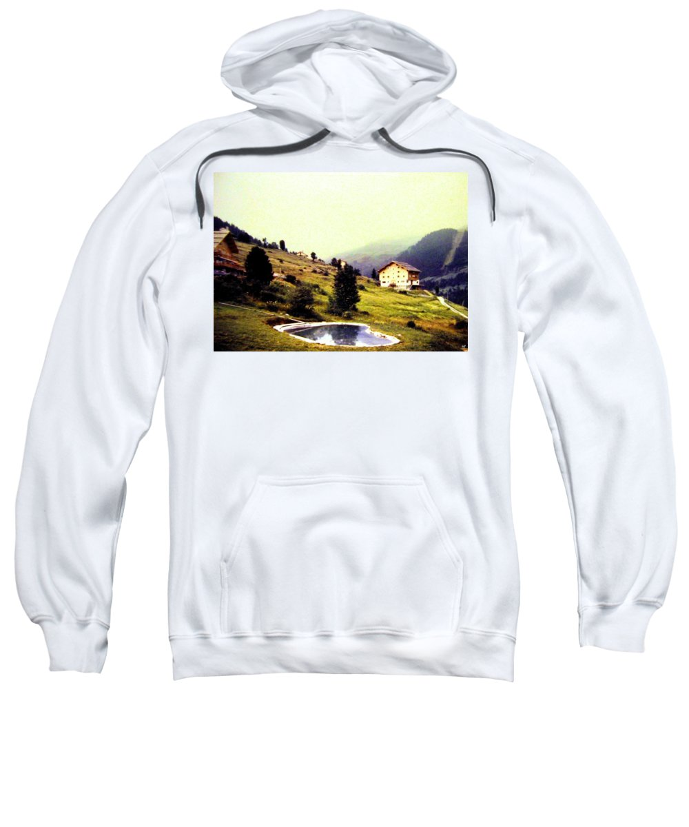 1955 Sweatshirt featuring the photograph French Alps 1955 by Will Borden