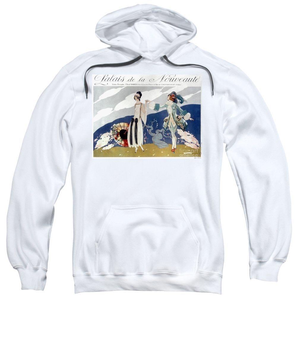 1923 Sweatshirt featuring the photograph French Fashion Ad, 1923 by Granger