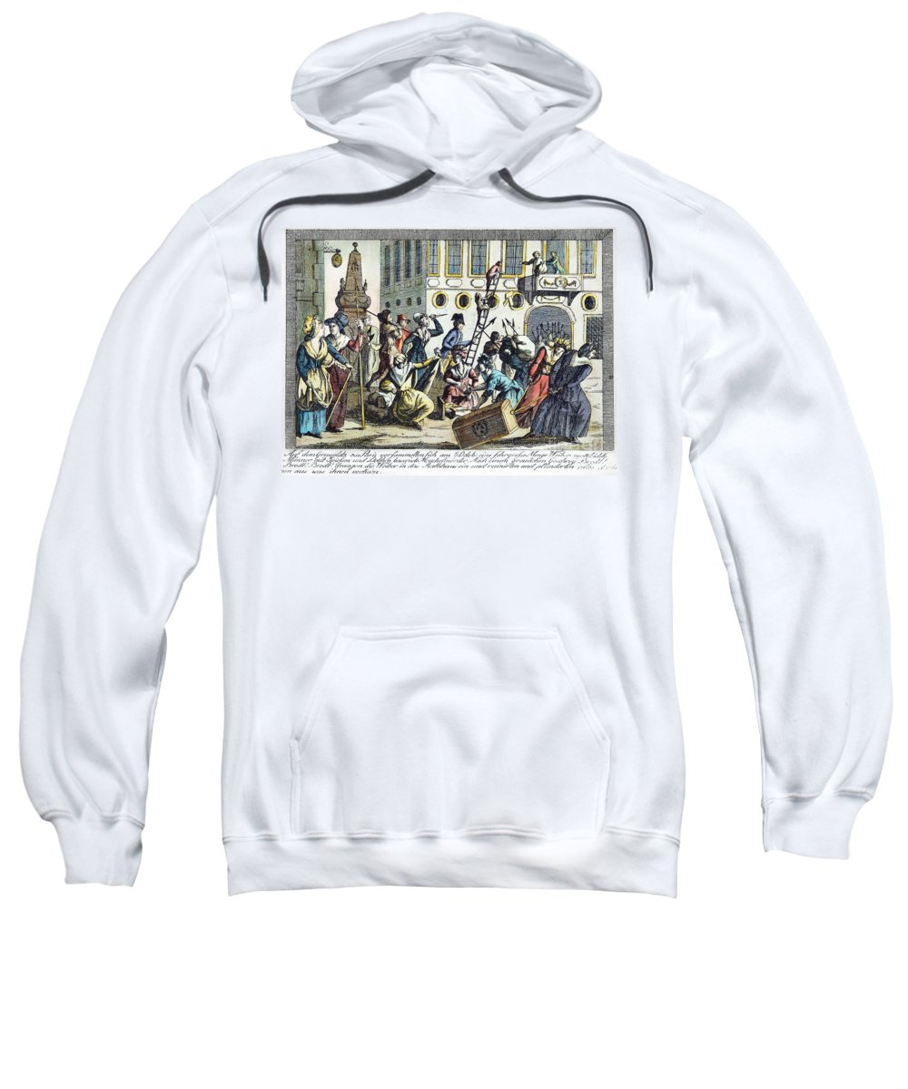 1789 Sweatshirt featuring the photograph French Revolution, 1789 by Granger