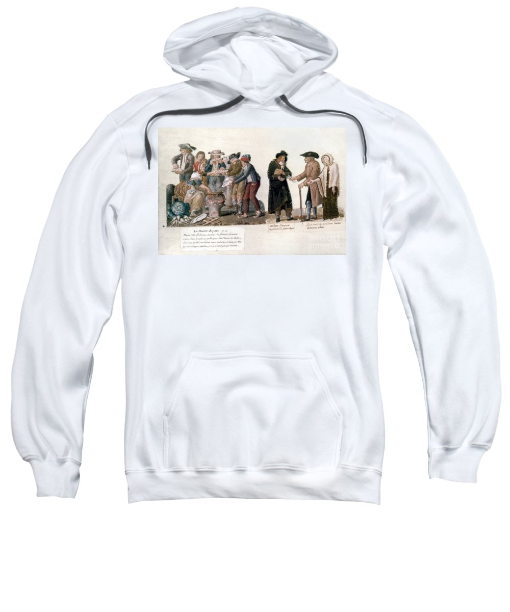 1795 Sweatshirt featuring the photograph French Revolution, 1795-96 by Granger