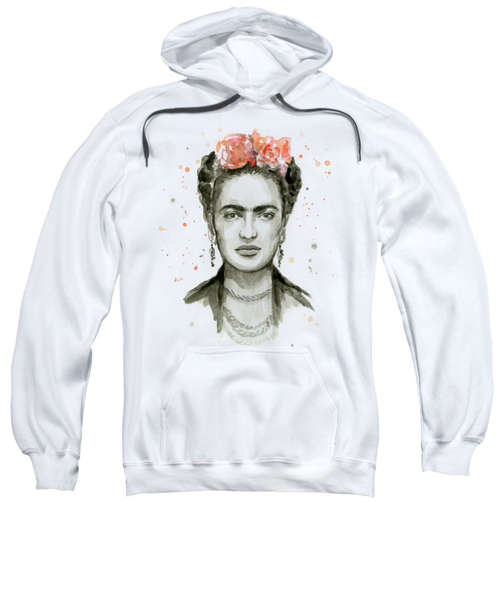 Frida Kahlo Sweatshirt featuring the painting Frida Kahlo Portrait by Olga Shvartsur