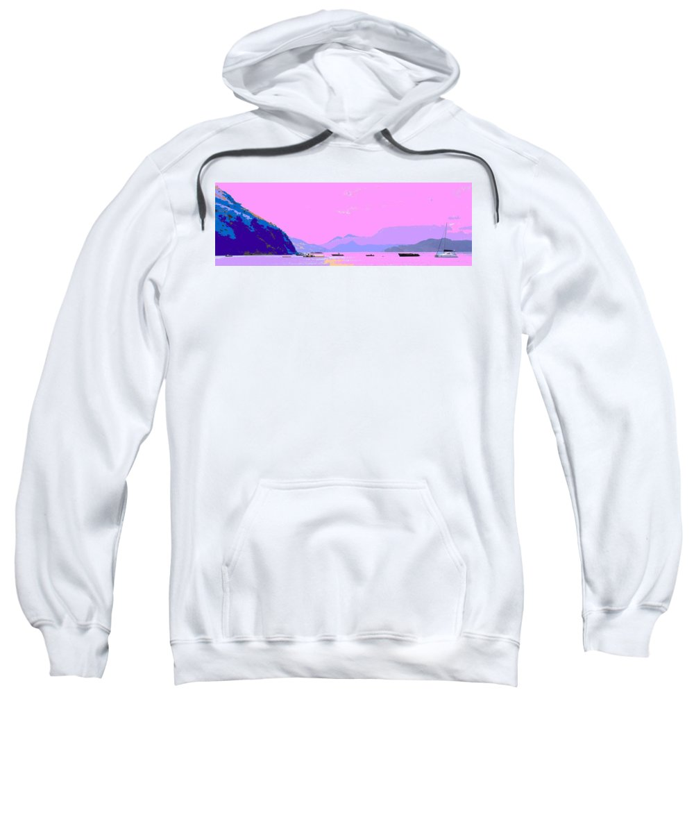 Frigate Sweatshirt featuring the photograph Frigate Bay Morning by Ian MacDonald