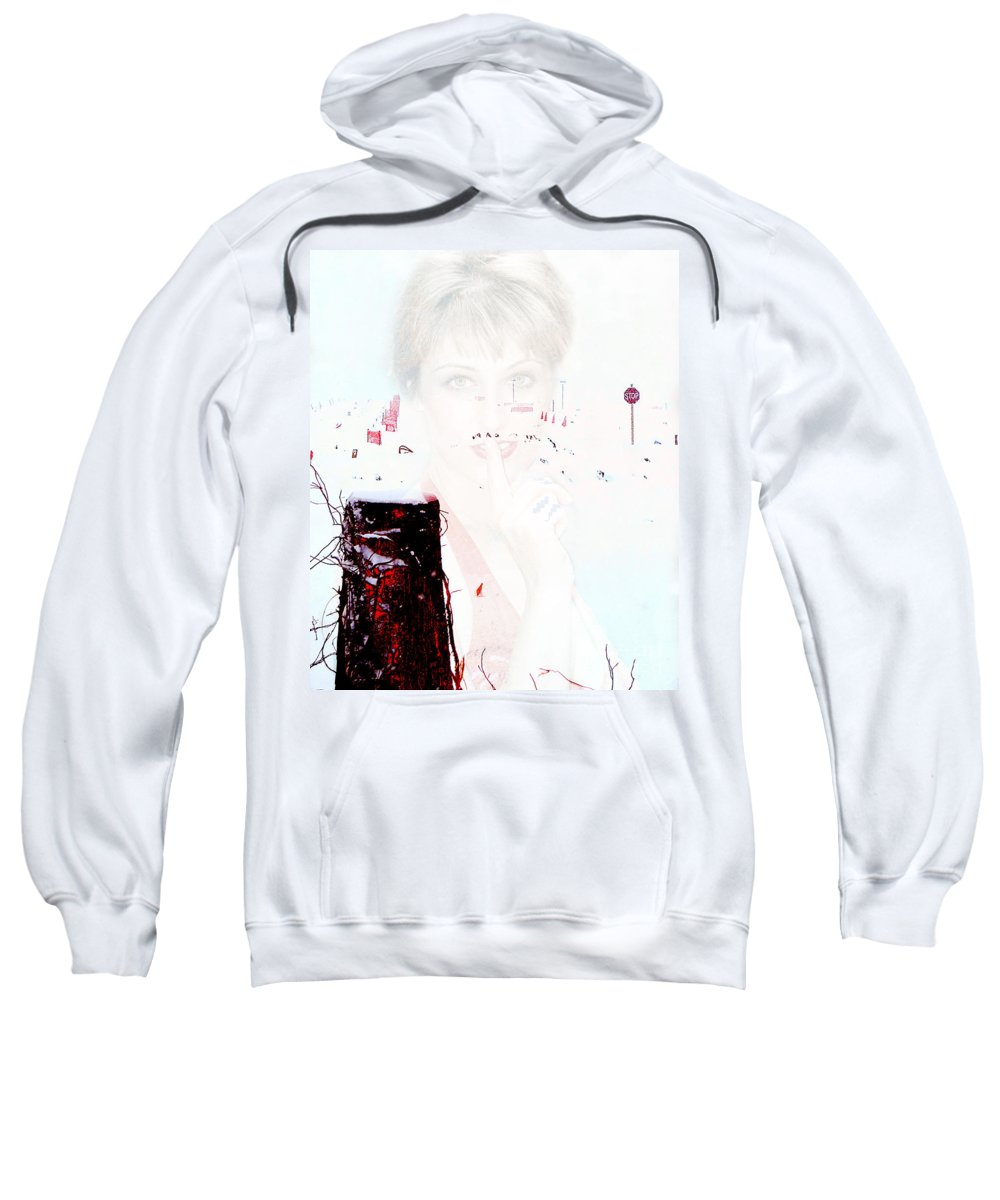 Clay Sweatshirt featuring the photograph Frigid by Clayton Bruster
