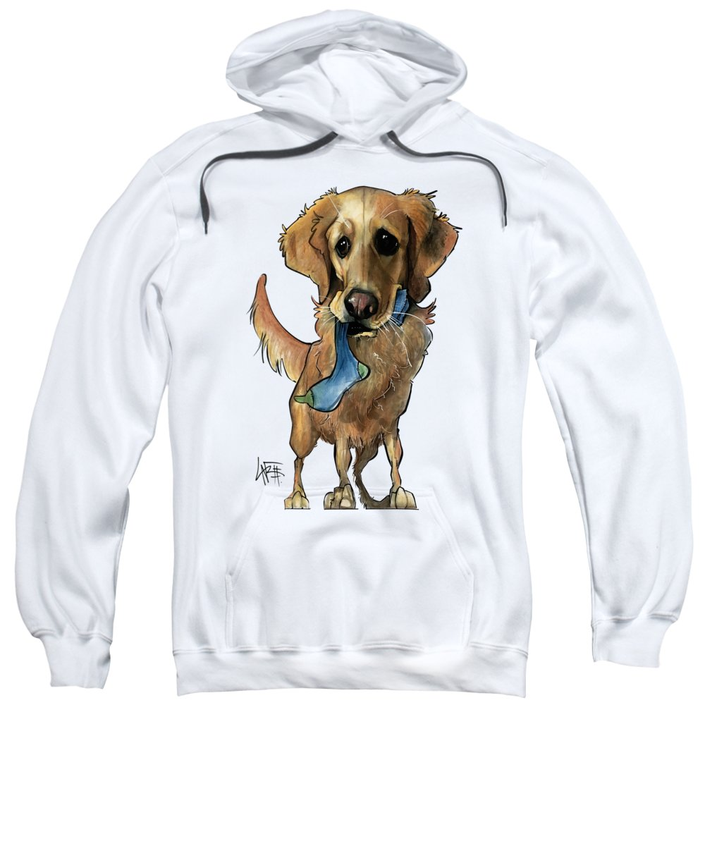 Pet Portrait Sweatshirt featuring the drawing Fritz 3330 by John LaFree