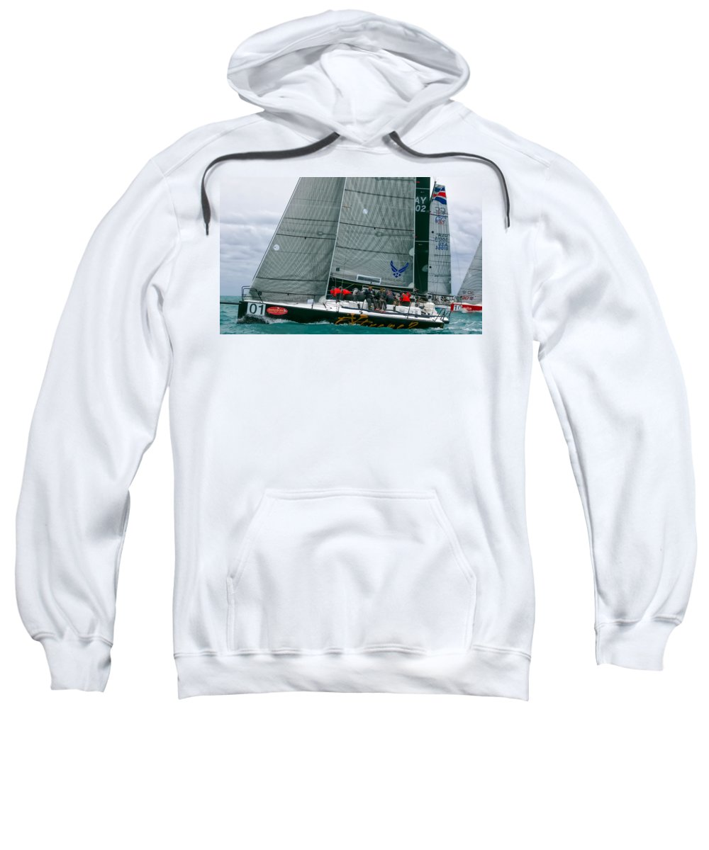 Sail Sweatshirt featuring the photograph From Down Under by Steven Lapkin