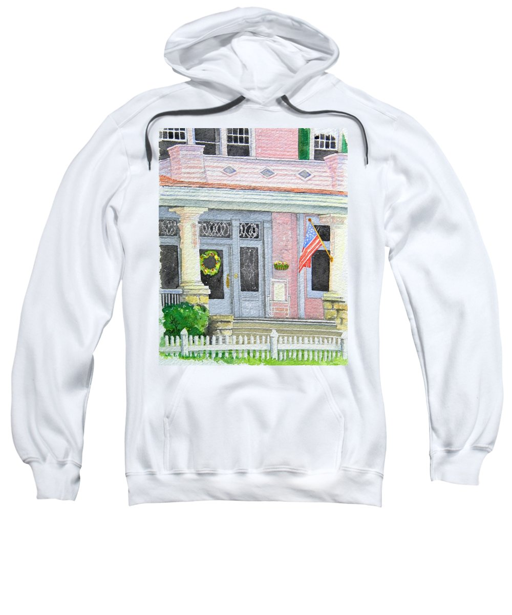 Front Porch Sweatshirt featuring the painting Front Porch by Gale Cochran-Smith