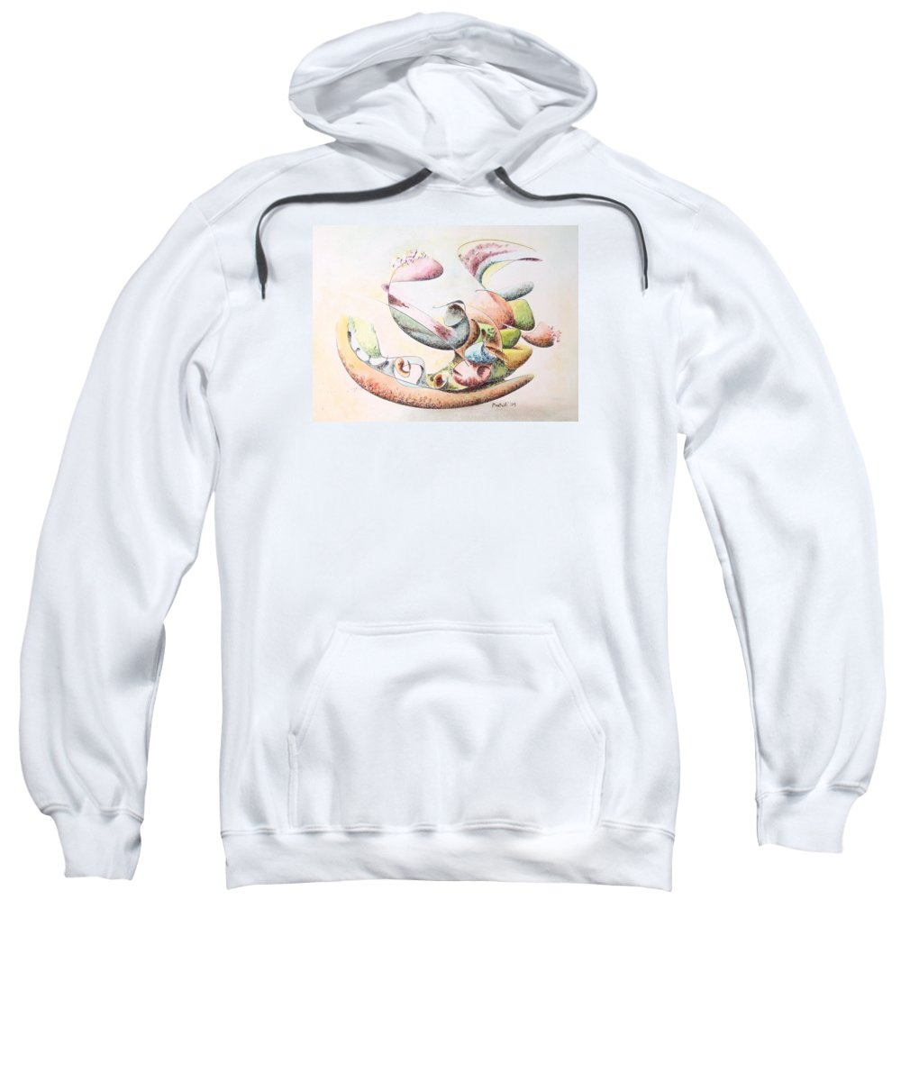 Abstract Sweatshirt featuring the painting Full Force by Dave Martsolf