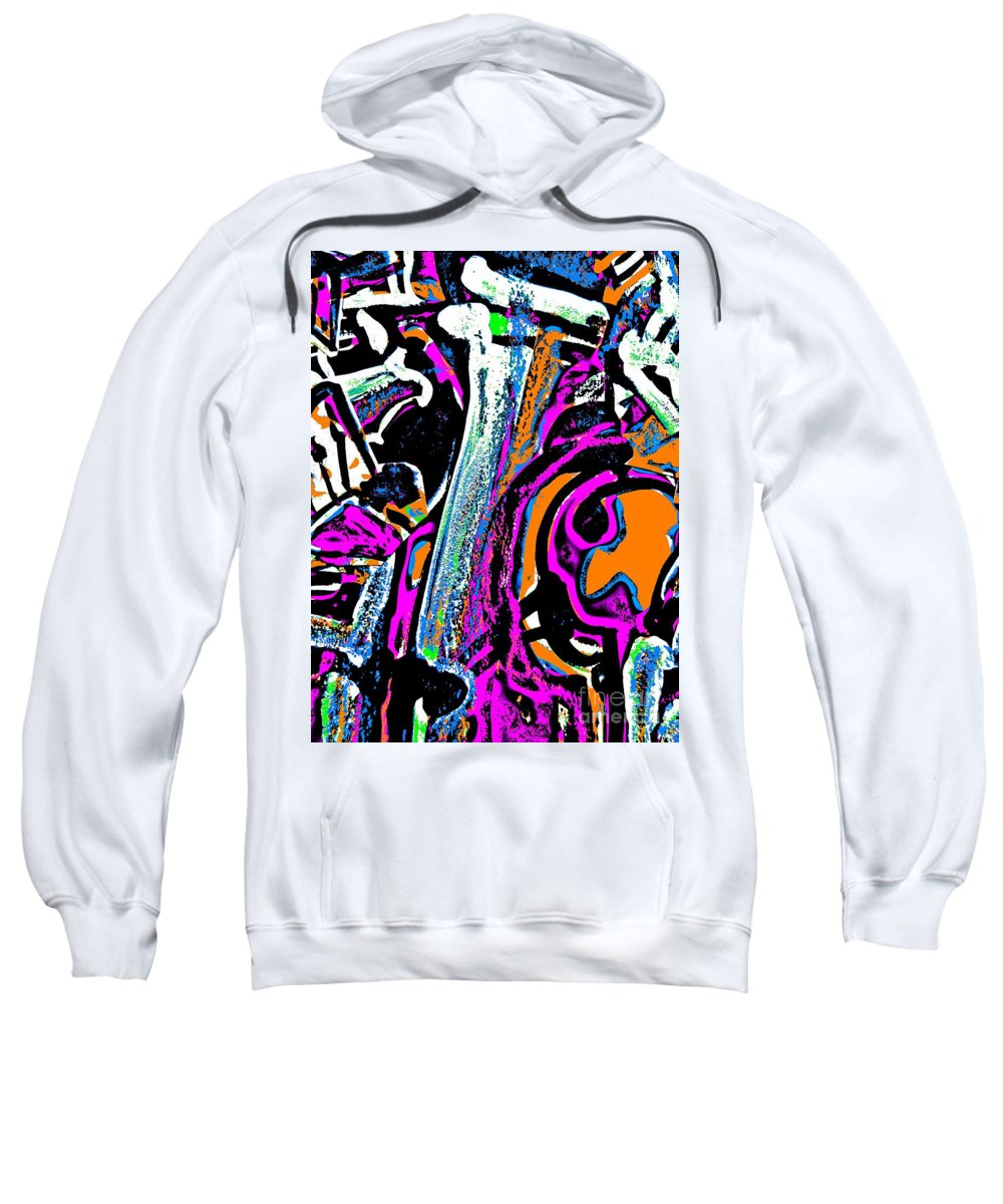 Katerina Stamatelos Sweatshirt featuring the painting Funky Pop-14 by Katerina Stamatelos