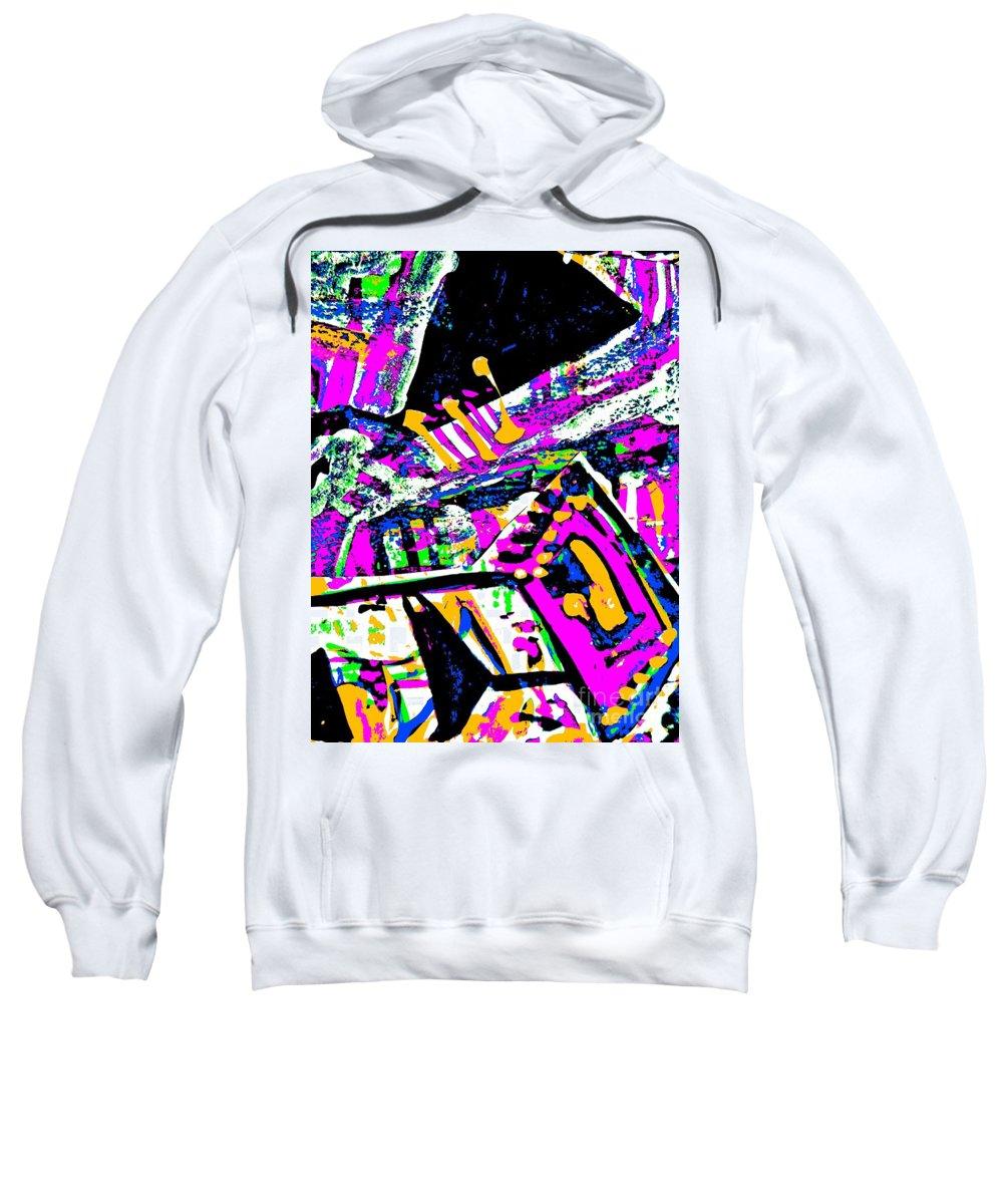 Katerina Stamatelos Sweatshirt featuring the painting Funky Pop-7 by Katerina Stamatelos