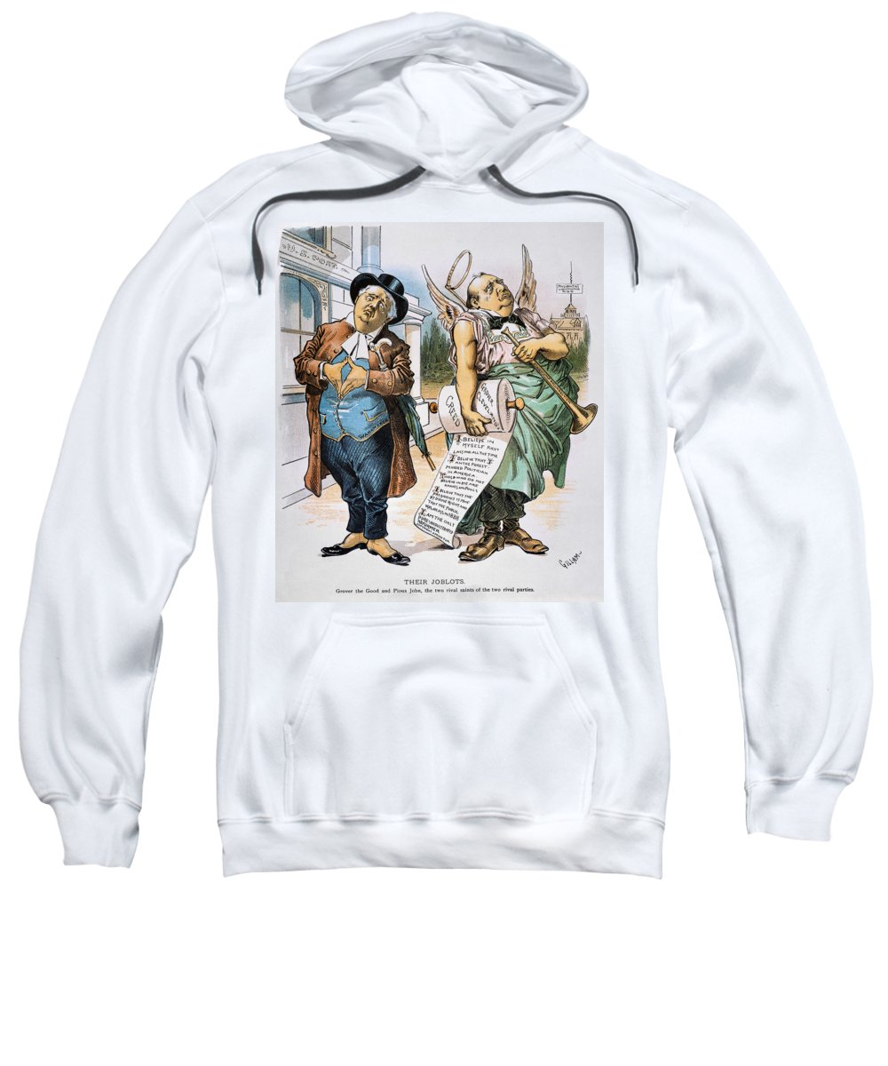 1892 Sweatshirt featuring the photograph G. Cleveland Cartoon, 1892 by Granger