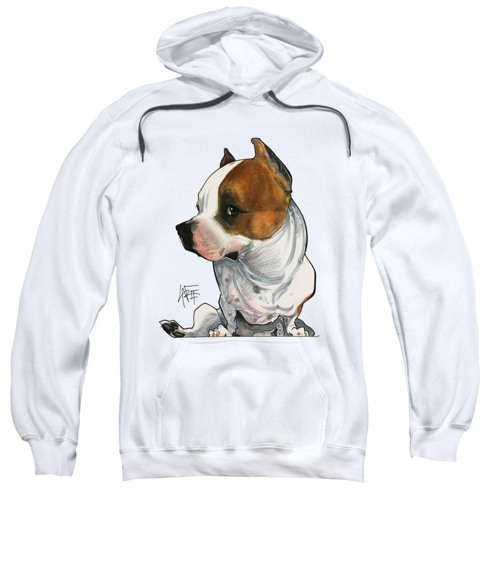 Pet Portrait Sweatshirt featuring the drawing Gabby Minuto 3190 by John LaFree