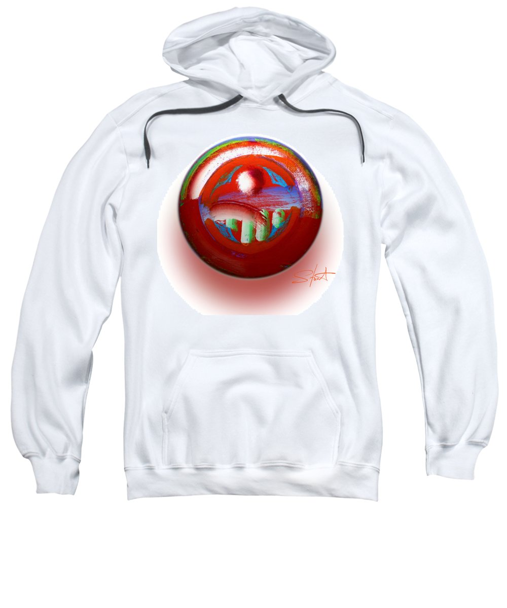 Mother Earth Sweatshirt featuring the painting Gaeia by Charles Stuart