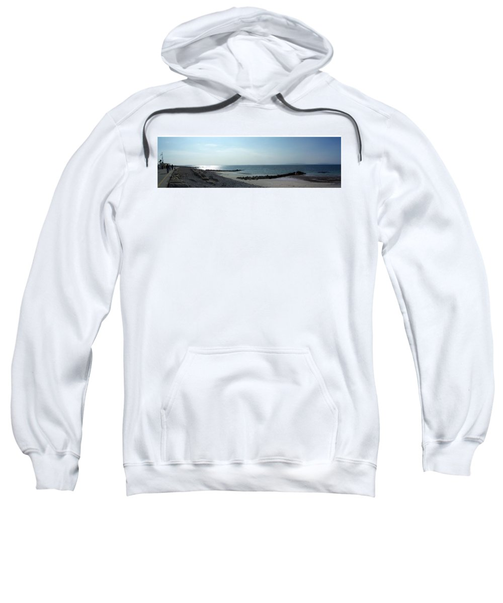 Irish Sweatshirt featuring the photograph Galway Bay At Salt Hill Park Galway Ireland by Teresa Mucha