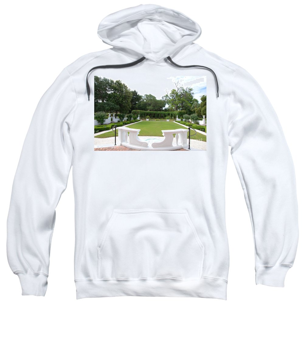 Cane Sweatshirt featuring the photograph Garden At Crane Cottage by Katherine W Morse