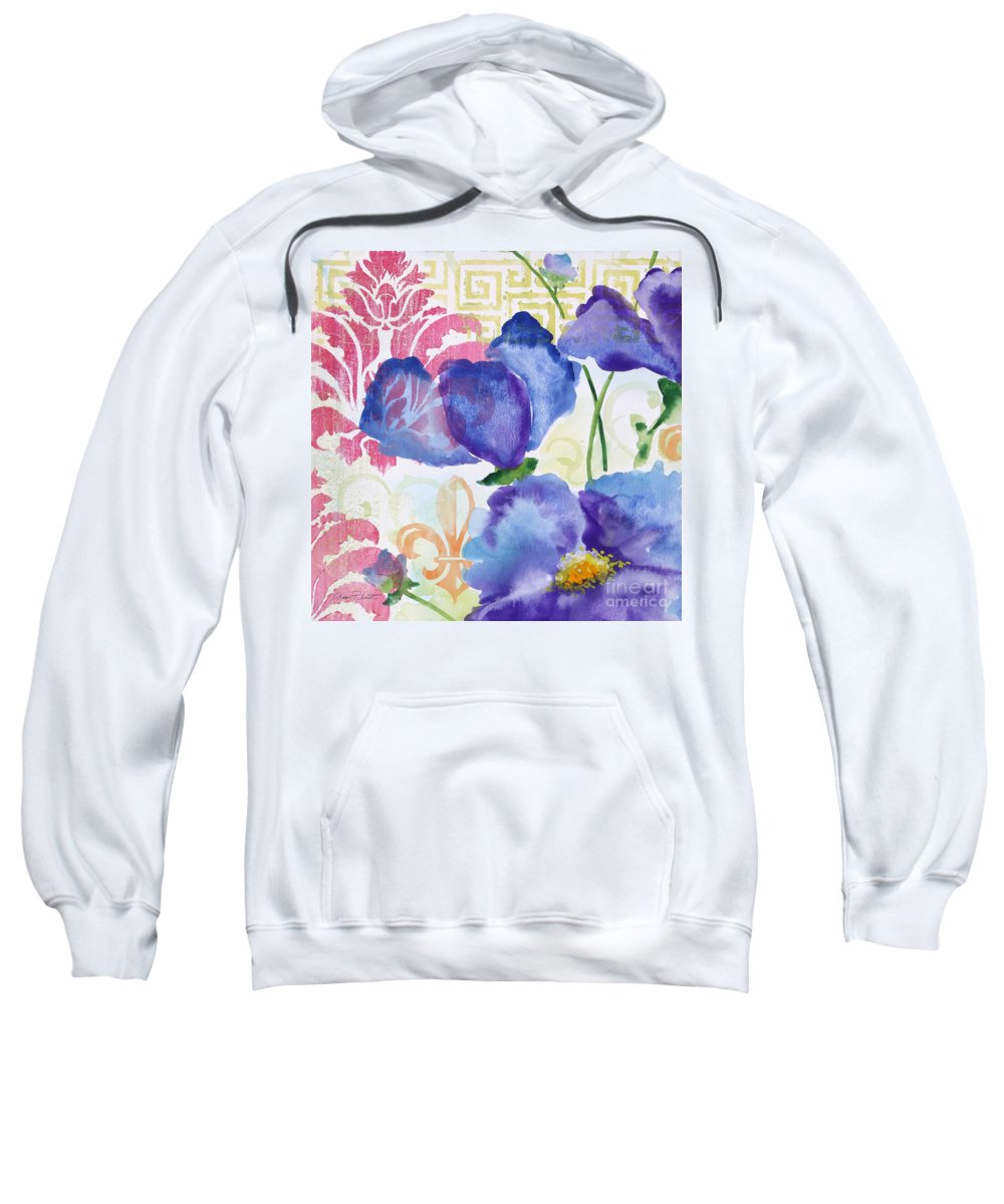 Watercolor Painting Sweatshirt featuring the painting Garden Beauty-jp2956b by Jean Plout
