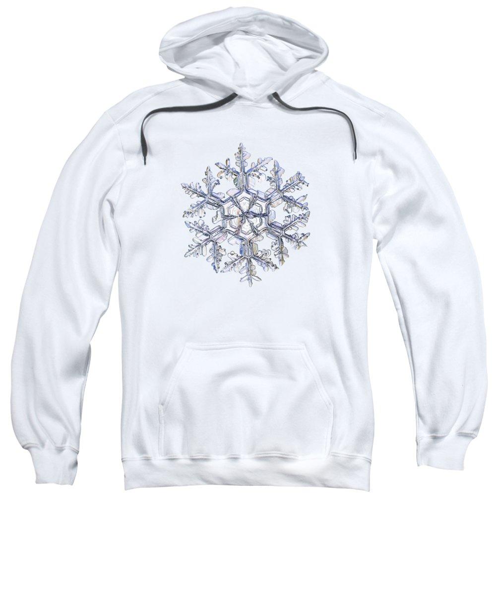 Snowflake Sweatshirt featuring the photograph Gardener's Dream, White Version by Alexey Kljatov