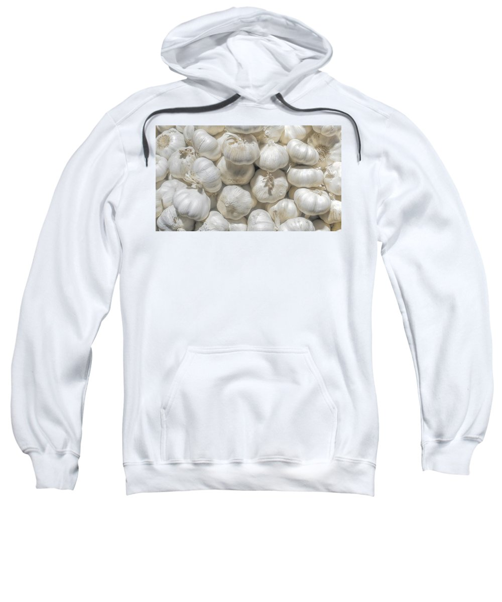 Sweatshirt featuring the photograph Garlic by Charuhas Images