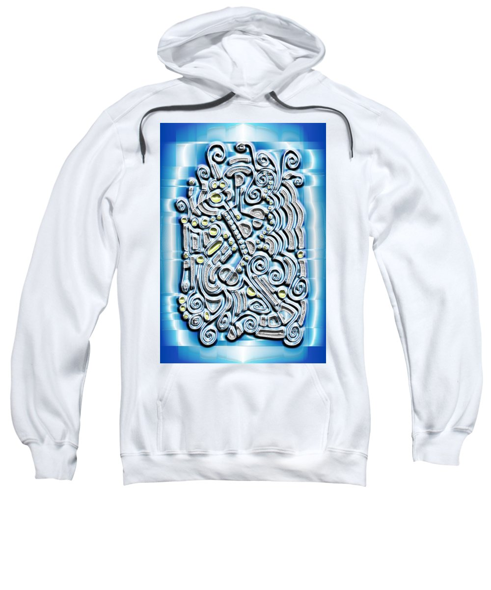 Digital Sweatshirt featuring the digital art Gate To The Future by Mark Sellers
