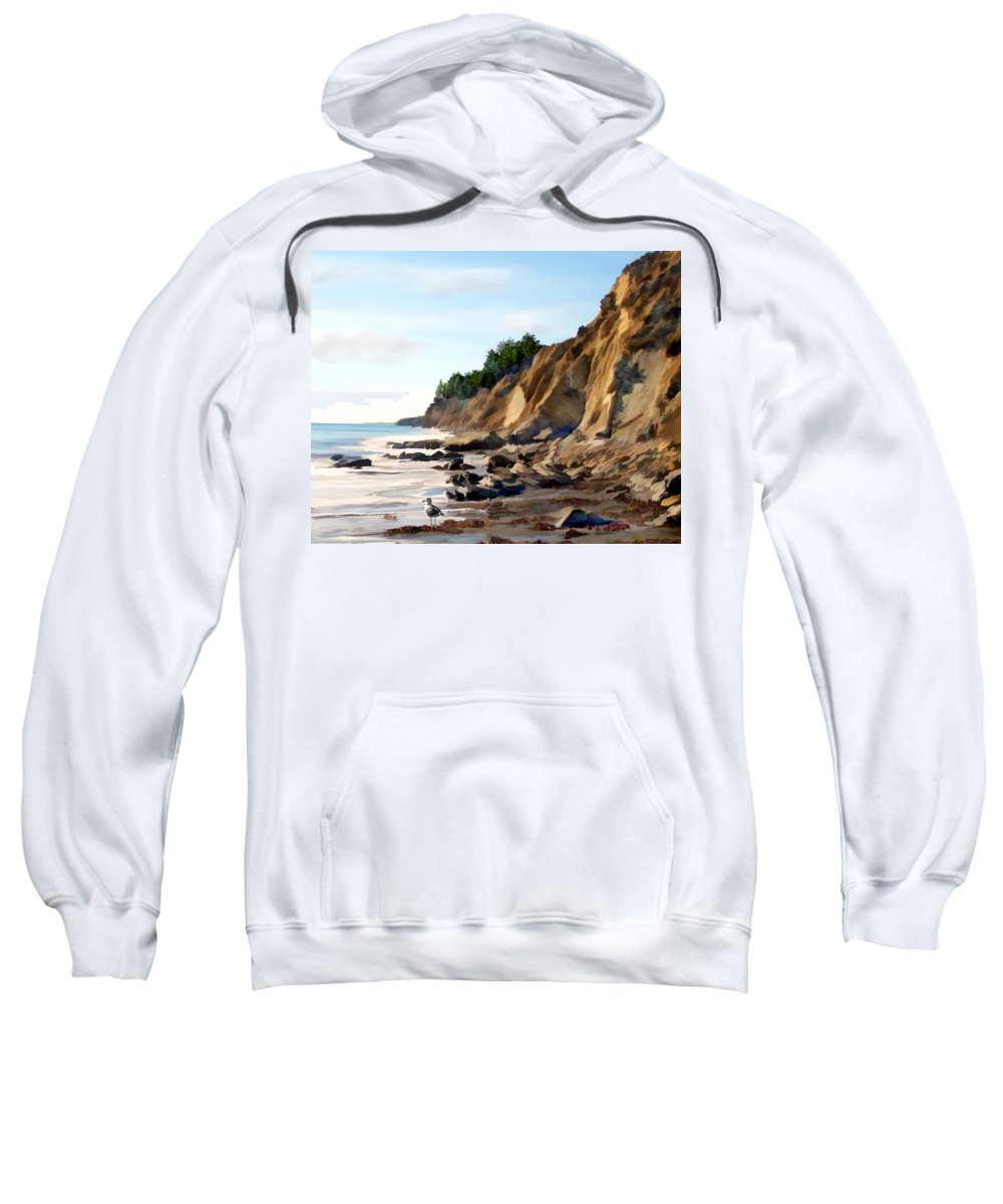 Ocean Sweatshirt featuring the photograph Gaviota by Kurt Van Wagner