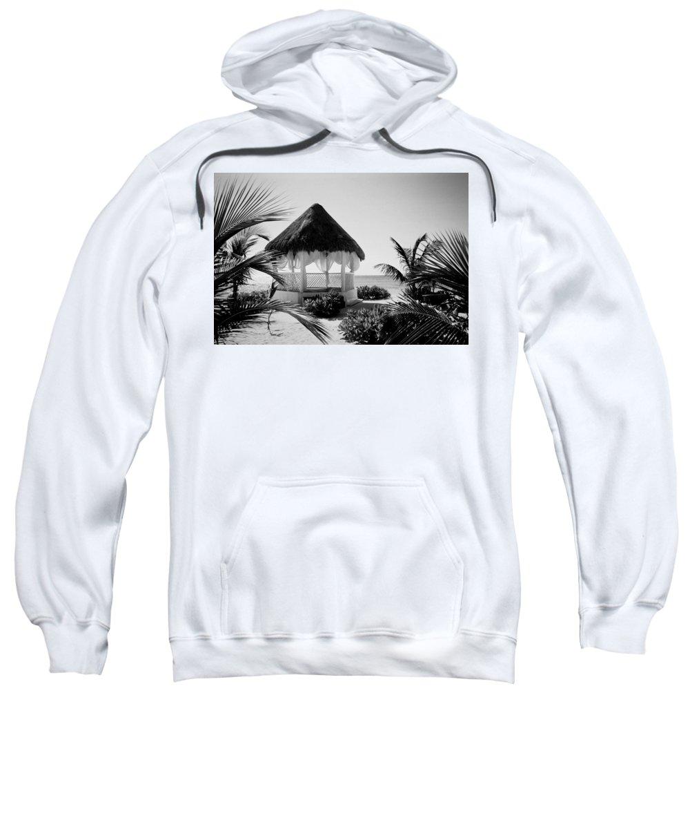 Gazebo Sweatshirt featuring the photograph Gazebo On The Ocean by Anita Burgermeister