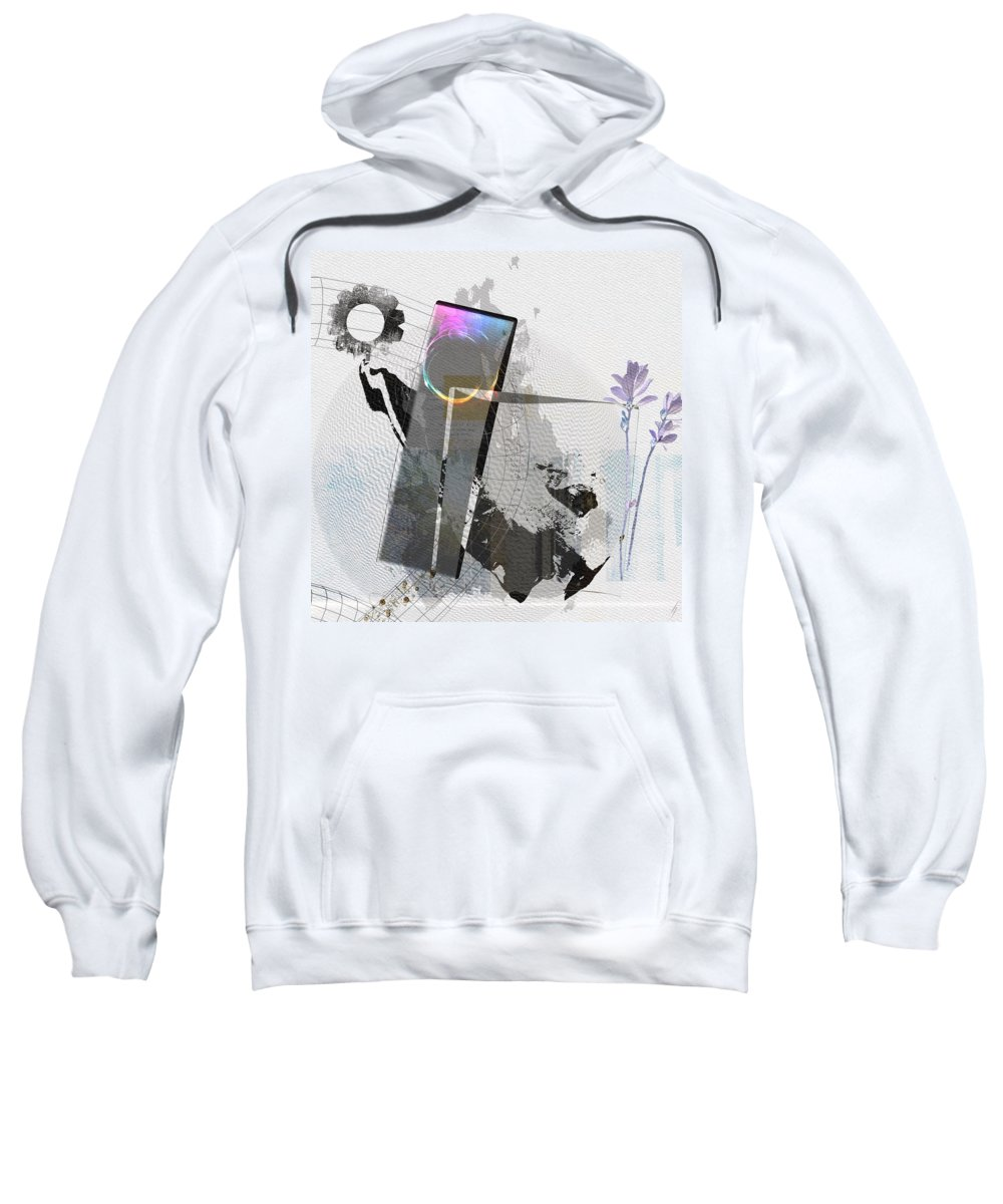 Abstract Sweatshirt featuring the digital art Gentle In The Face Of Beauty by Heide Hoffmann