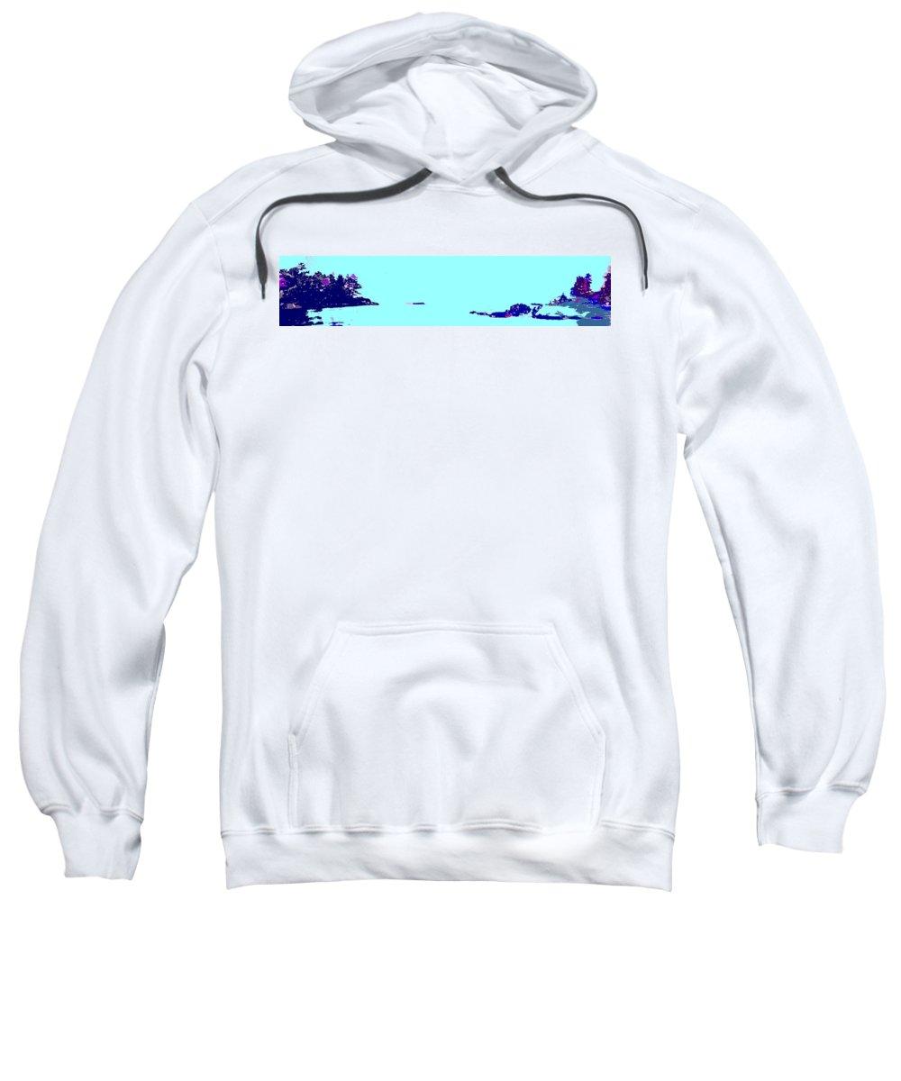 Sweatshirt featuring the photograph Georgian Bay Blue by Ian MacDonald