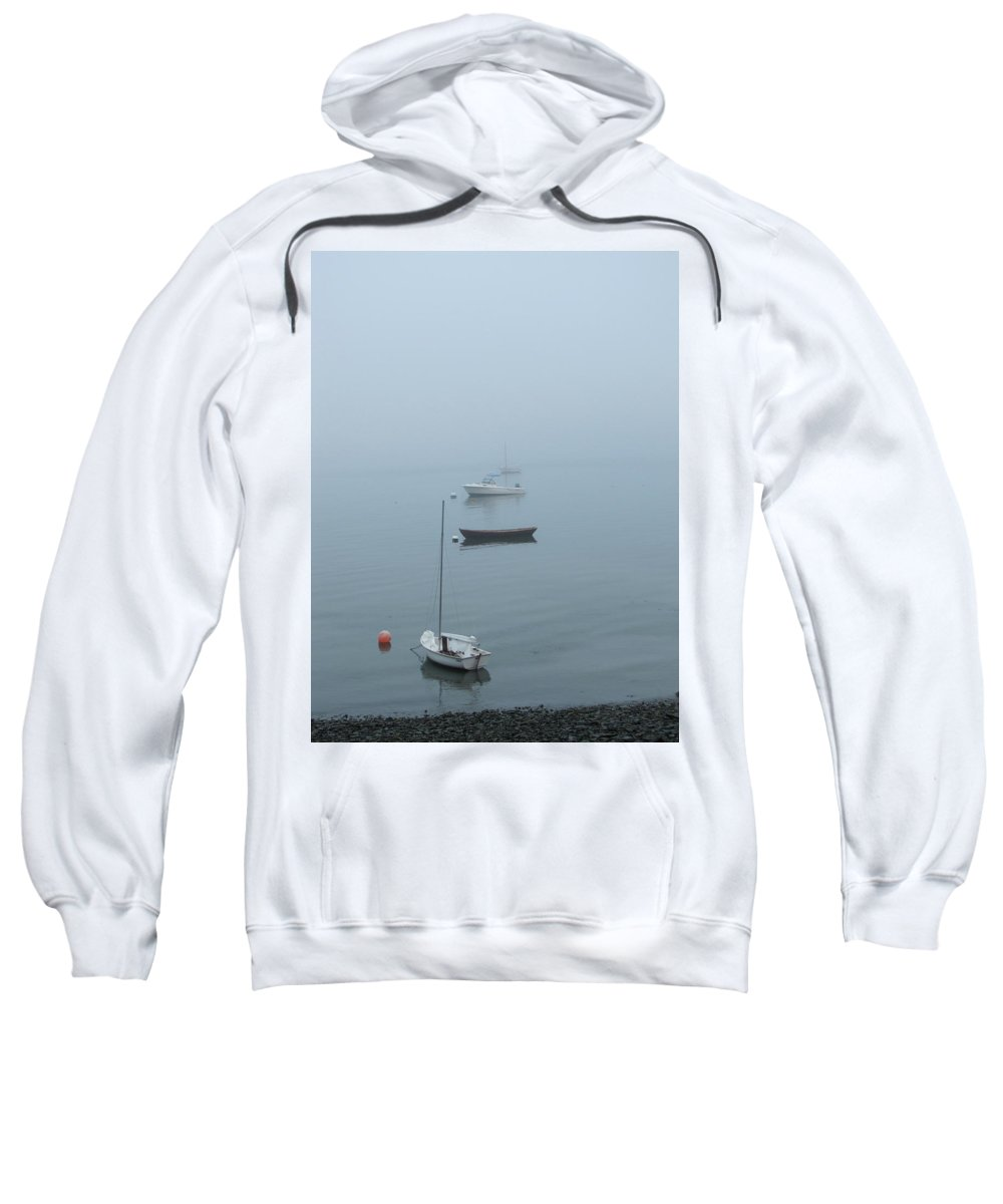 Fog Sweatshirt featuring the photograph Ghost Ships by Kelly Mezzapelle