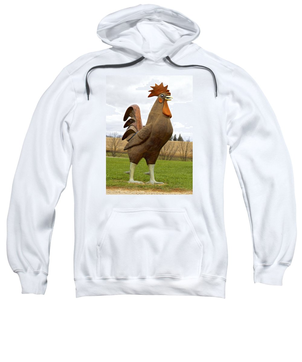Rooster Sweatshirt featuring the photograph Giant Rooster by Thomas Firak