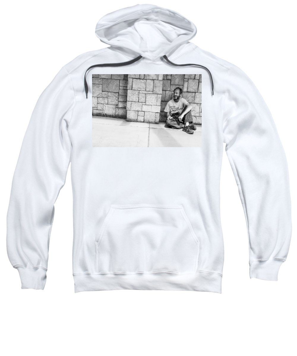 Fremont Street Experience Sweatshirt featuring the photograph Gifted Grateful And Guaranteed by SR Green