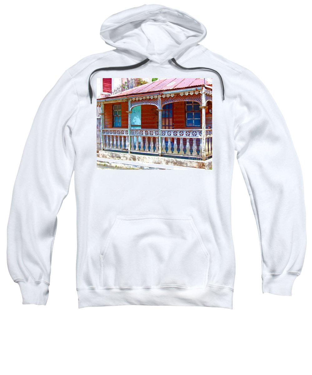 House Sweatshirt featuring the photograph Gingerbread House by Debbi Granruth