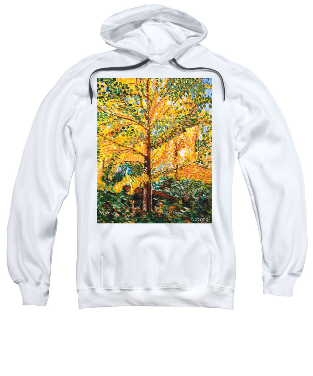 Tree Sweatshirt featuring the painting Gingko Tree by Valerie Ornstein