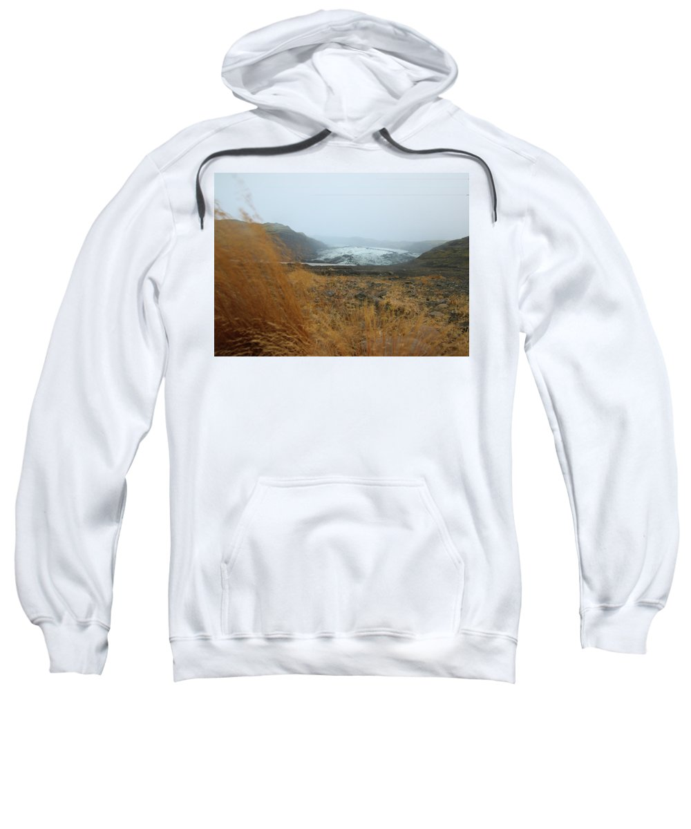 Glacier Sweatshirt featuring the photograph Glacier In The Distance by Perggals - Stacey Turner