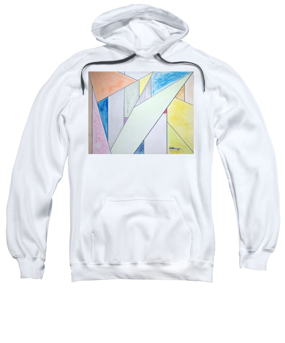 Buildings Sweatshirt featuring the mixed media Glass-scrapers by J R Seymour