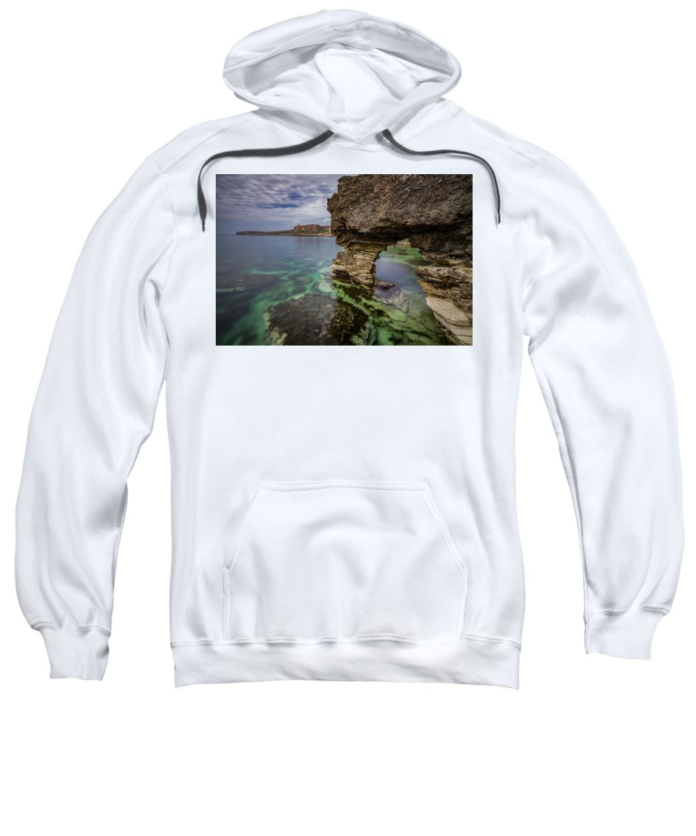 Glimpses Of Sicily Sweatshirt featuring the photograph Glimpses Of Sicily by Davide D