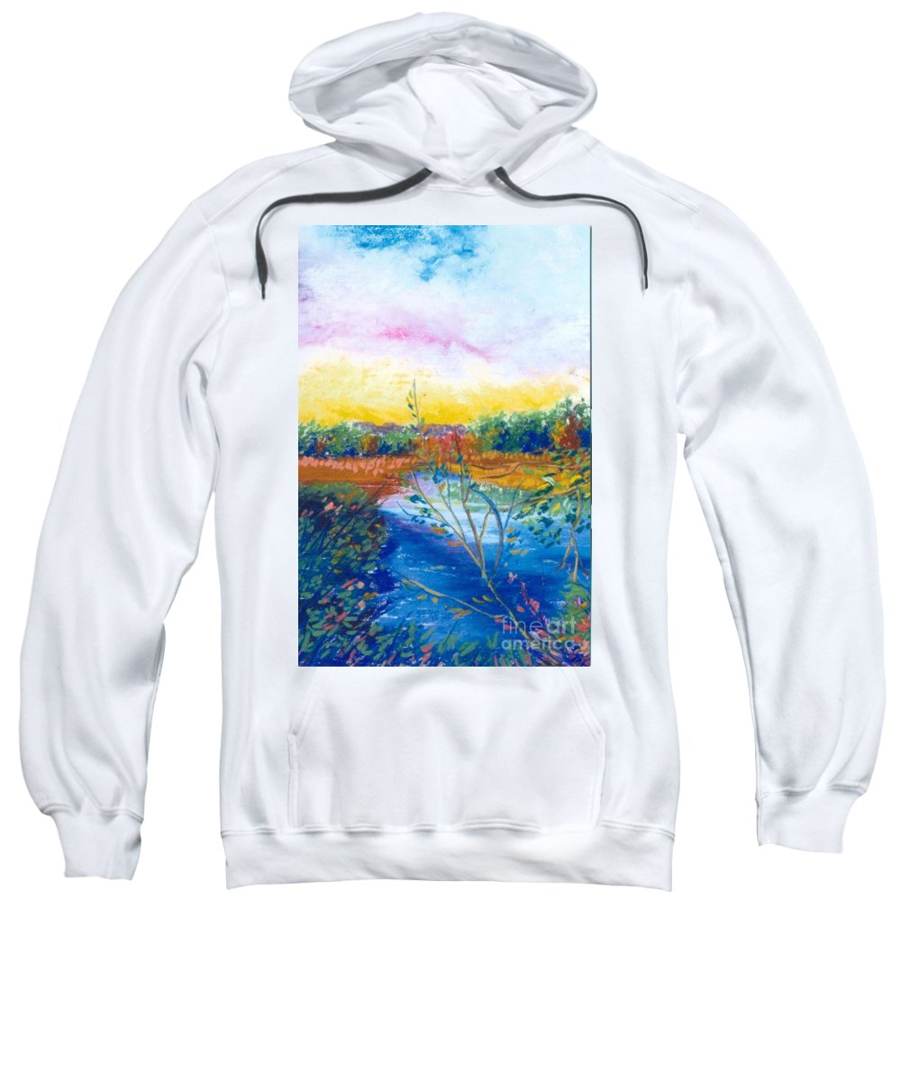 Warm Day Sweatshirt featuring the painting Glorious Day by Sandy Sereno