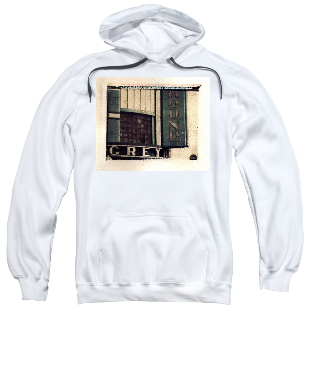 Polaroid Transfer Sweatshirt featuring the photograph Go Greyhound And Leave The Driving To Us by Jane Linders
