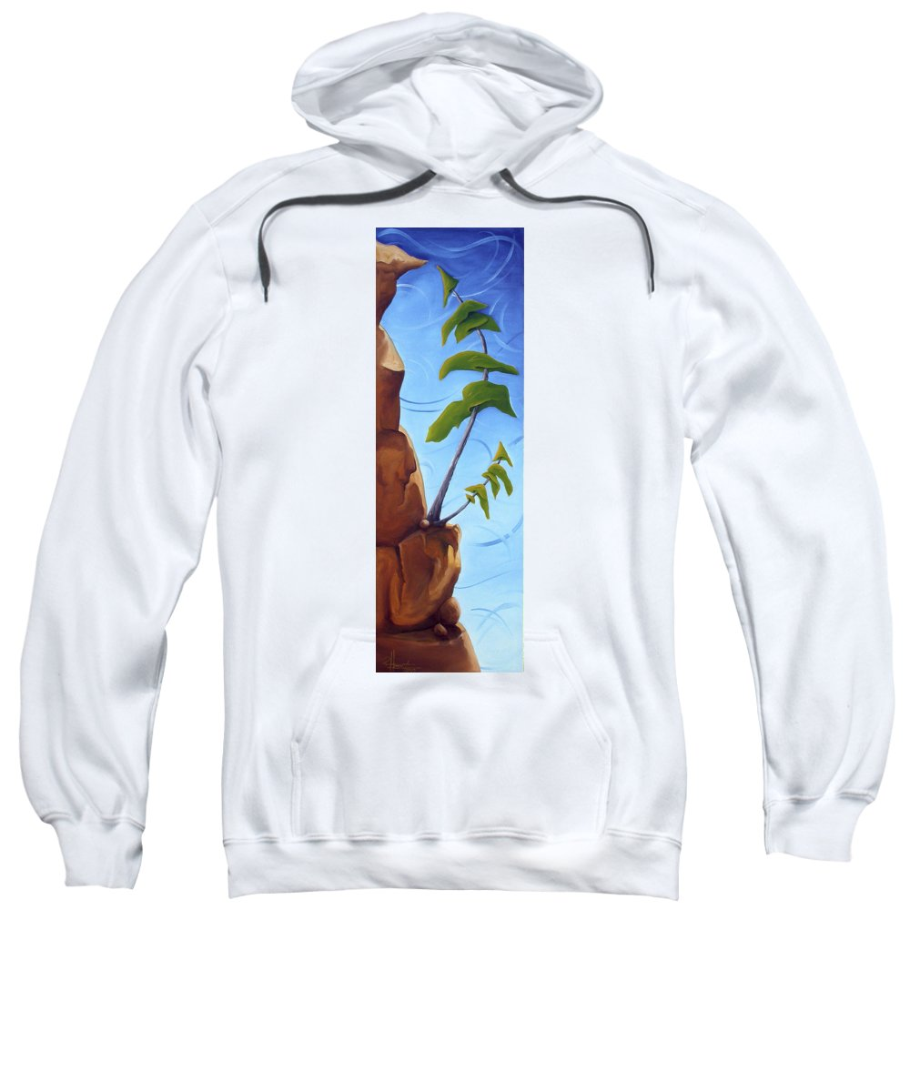 Landscape Sweatshirt featuring the painting Goals by Richard Hoedl