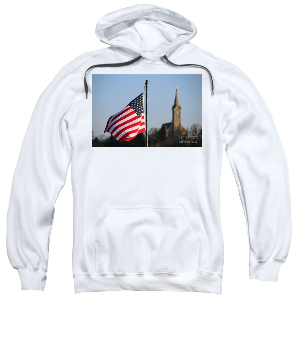 Flag Sweatshirt featuring the photograph God And Country 2 by Eric Curtin