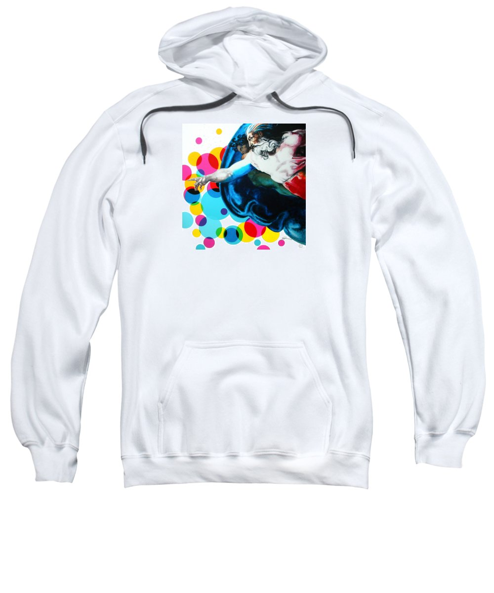 Classic Sweatshirt featuring the painting God by Jean Pierre Rousselet