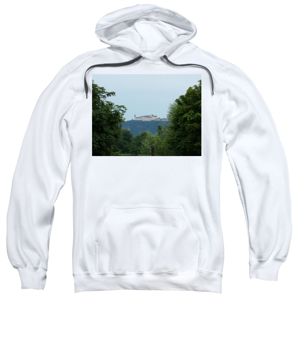 Landscape Sweatshirt featuring the photograph Goettweig Abbey by Valerie Ornstein