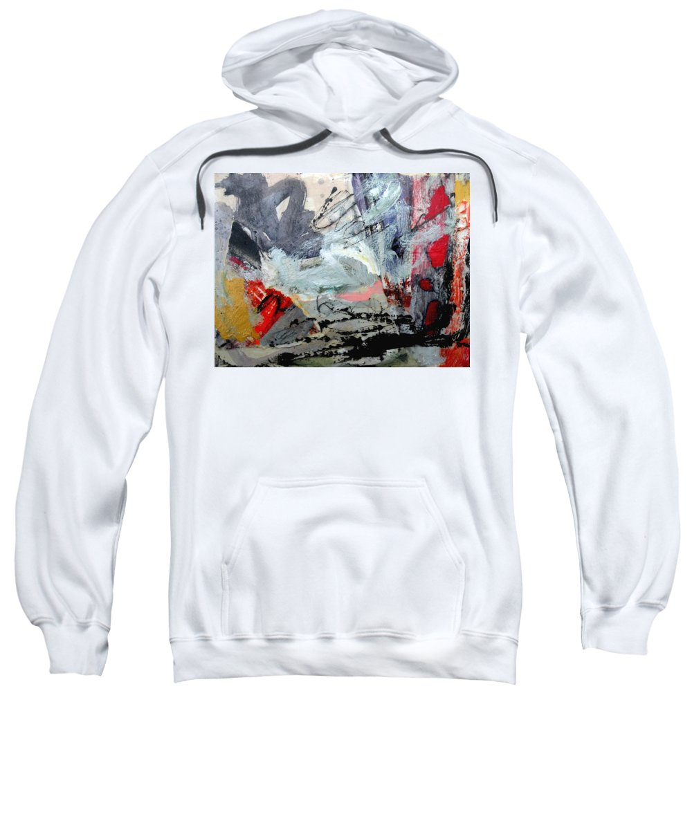 Expressionistic Sweatshirt featuring the painting Going Through The Fire 4 by Janis Kirstein